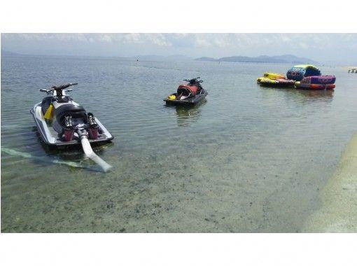NEW 【 Shiga-Lake Biwa] Transparent fresh water not sticky! Fly Board Experience (25 minutes) Power Spot White Beard Beach Storeの紹介画像