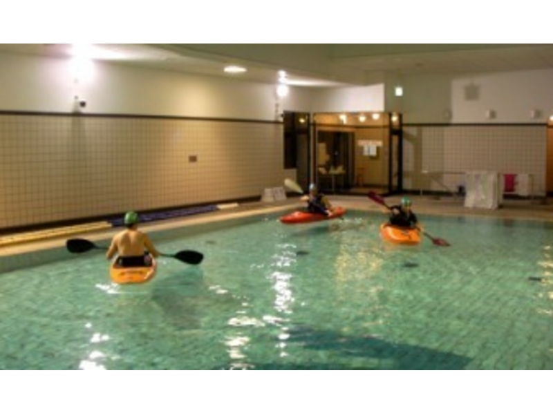 [Application in Furano 3-5 people] introduction image of pool de kayak (rental included)