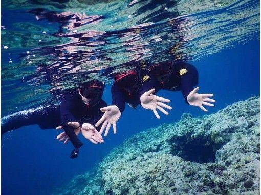 [沖縄石垣島]藍洞浮潛和海洋運動(3小時無限制玩耍)免費接送和午餐1天課程! * *正在進行冠狀病毒感染預防措施*の紹介画像