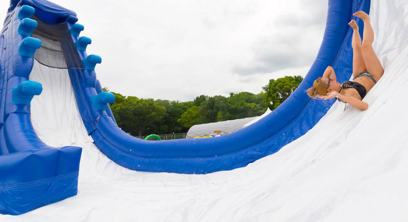 Osaka Castle Water Park Boomerang Slider