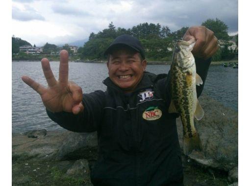 【山梨・ 南都留郡】河口湖バス釣り教室(アルミボートコース)