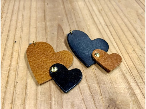 [Aichi ・ Nagoya] Shoemaker's Leather crafts ☆ Made with leather earringsの紹介画像