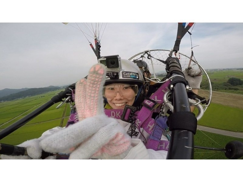 【An evening tandem course ・ Motor Paraglider] 4:30 pm uniform fee course  (Tochigi ・ Sano)