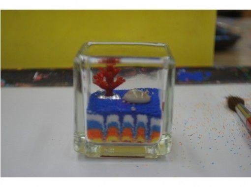 【沖縄・那覇市】美ら海キャンドル作り(四角小)手ぶらでOK!