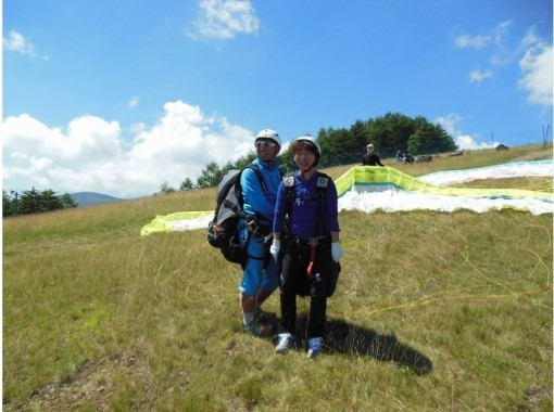 【長野県・富士見パノラマ】タンデム(2人乗り)フライトで関東一の高度差800mの大空へ コロナ対策実施中