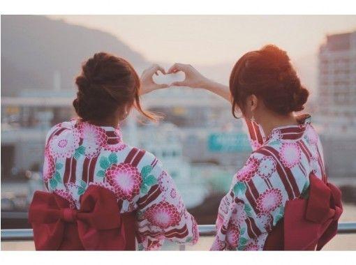 [东京浅草]推荐夏季花火大会!女子男式浴衣租赁吉计划(带穿衣)の紹介画像