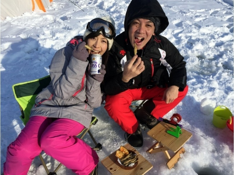 [Hokkaido Minamifurano] ☆ ☆ recommend ice smelt fishing half-day tour! Introduction image of experience ♪ to you pay in private car discount