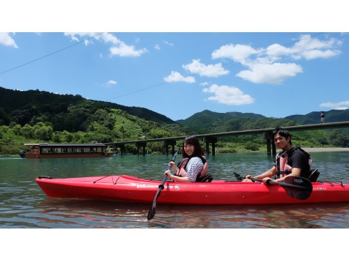 *2人乗りカヌー* 四万十川で1時間のおてがるカヌー 体験!カップル、お子さまとの体験に人気!の紹介画像