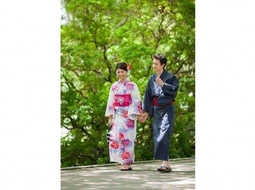 [奈良/奈良市]穿著和服(帶髮飾)情侶計劃可隨意探索奈良!從近鐵奈良站出發!の紹介画像