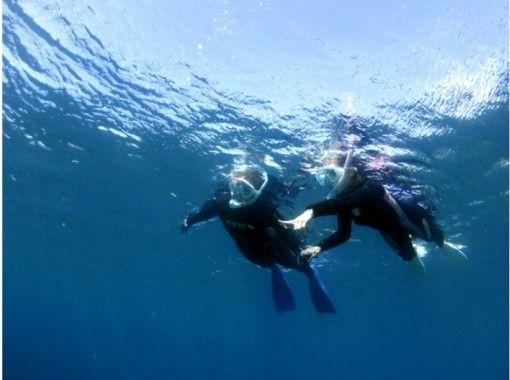 黄金崎の青い海で子供も大人も一緒に楽しめるシュノーケリング♪ 午前スタッフと一緒・ 午後はそのまま器材を使って自由に遊ぶ(写真無料プレゼントの紹介画像