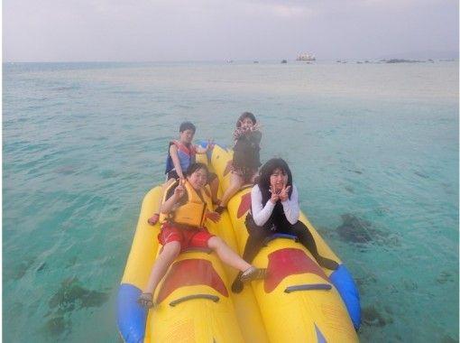【石垣島・バナナボート】石垣島の青い空の下、バナナボートで海面を疾走しよう!
