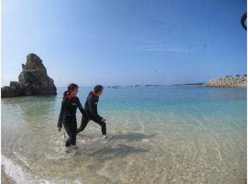 美ら海水族館近く、綺麗な珊瑚と白い砂地が広がる、ゴリラチョップ でスノーケル!の紹介画像