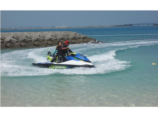 【沖縄・宮古島】無免許だけどジェットに乗りたい…プロライダーによるタンデムジェットスキー体験!