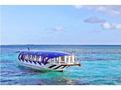 【人気の竹富島へ行こう!】竹富島でグラスボート遊覧&水牛車観光コース‹Tk-3›