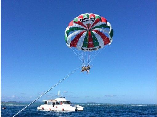 「GoTo Travel Coupon Target Store」【冲绳那霸出发】赤壁群岛浮潜&帆伞&Marine Jet(椰子蟹课程)の紹介画像