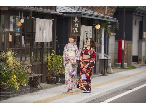 【福島・会津・着物レンタル】ヘアセット付き♪女性限定「街着」セット