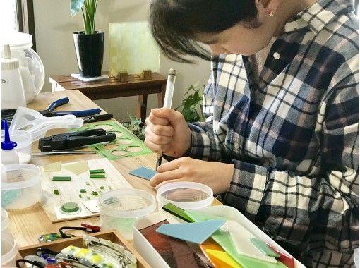 【京都・西陣・フュージングガラスで作るへ「ヘアアクセサリー」バレッタ1個or ヘアゴム2個or ポニーフック2個の紹介画像