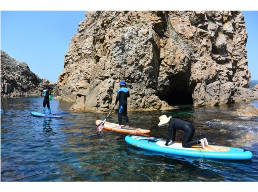 【鳥取/浦富海岸】SUP体験★経験者向けコース 洞窟が多い海岸を満喫できますの紹介画像