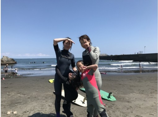 【神奈川・湘南】子供と一緒に!サーフィンスクール親子プラン