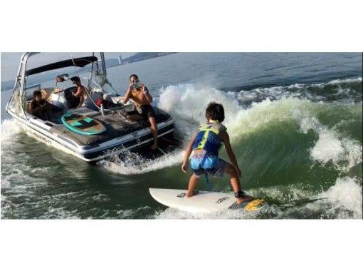 【滋賀・琵琶湖】琵琶湖でサーフィン♪ウェイクサーフィン体験♪♪