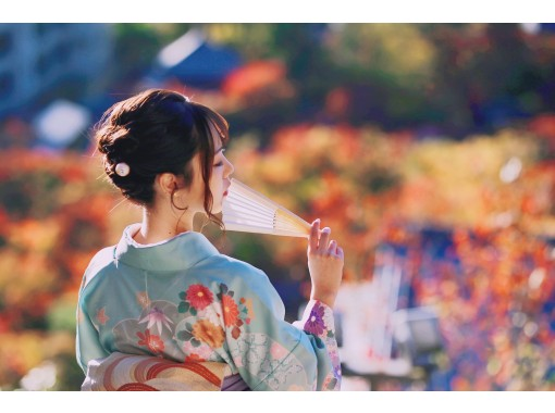 """Kyoto Gion Kimono Rental """"Couple Plan"""" Recommended for dates! It's OK empty-handed and you can store your luggage for free!の紹介画像"""