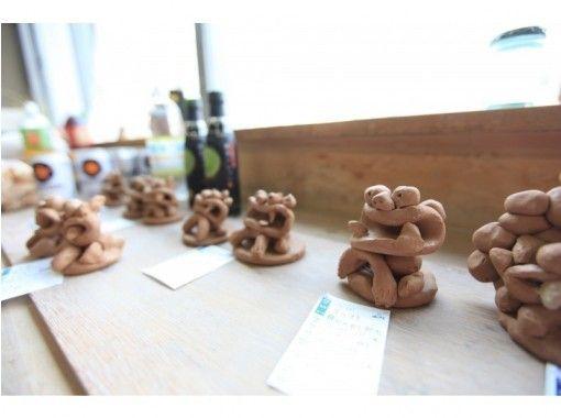 [Osaka Umeda] Shisa making ceramic art experience ☆ You can freely shape haniwa and animals ♪ Object one day experience ☆の紹介画像