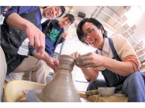 【东京青山】电陶轮一日体验课程☆开始吧♪也能转动陶轮的陶艺快乐体验☆の紹介画像
