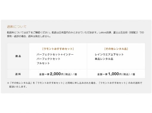 【山梨・富士河口湖】登山用品レンタル★ヘルメット★の紹介画像