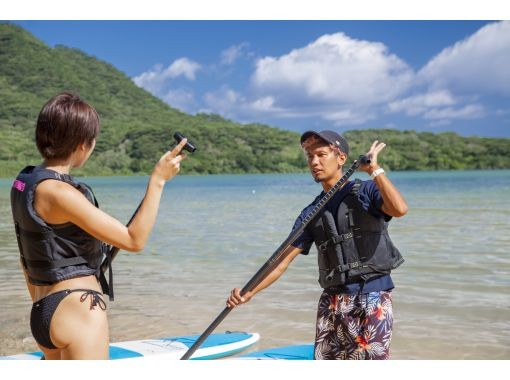 [Ishigaki Island / 1st] ⑧ If you get lost, this is it! Kabira Bay SUPor Canoe & Blue Cave Snorkeling 2 Big Spot Conquest Plan [Photo Data Free]の紹介画像
