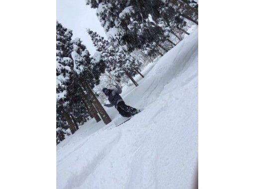 [滋賀·高島】雪上徒步半天@函館山滑雪勝地の紹介画像