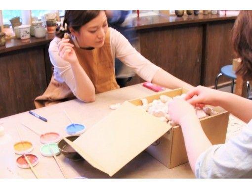 【東京☆新橋駅歩5分】選べるプチ陶芸体験☆今日を素敵な一日に~☆板皿手びねりorネコの箸置き☆