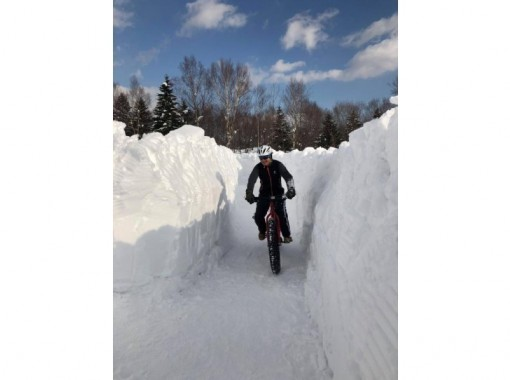 【北海道・札幌】スノーサイクリング 札幌近郊雪上ファットバイクサイクリングツアー!