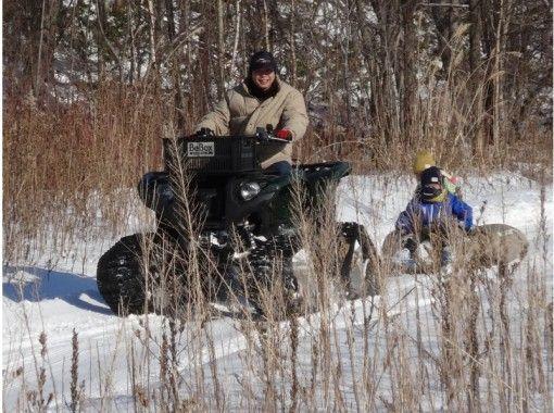 冬季限定4WDクローラーバギー&バナナボートorスノーチューブ