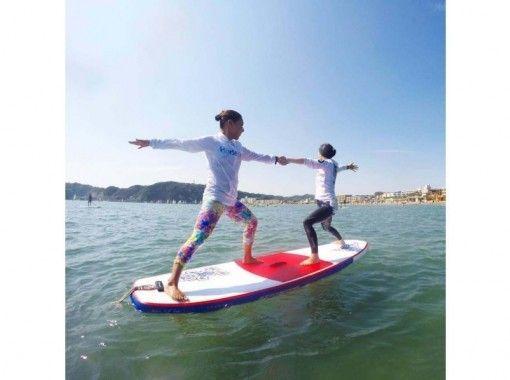 【湘南・逗子】SUP体験+SUPヨガの贅沢コース(初めての方向け)【1日】の紹介画像