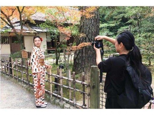 ミシュラン三ツ星。庭園の国宝「栗林公園」で記念写真