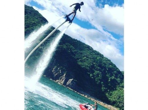 【鹿児島・与論島】与論島初上陸!フライボード(30分)与論の海を空から堪能♪