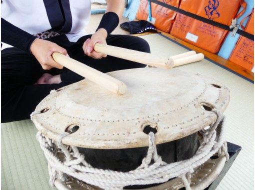 【宮城県・丸森町】癒しの自然、阿武隈川舟下り船上での太鼓パフォーマンスと体験