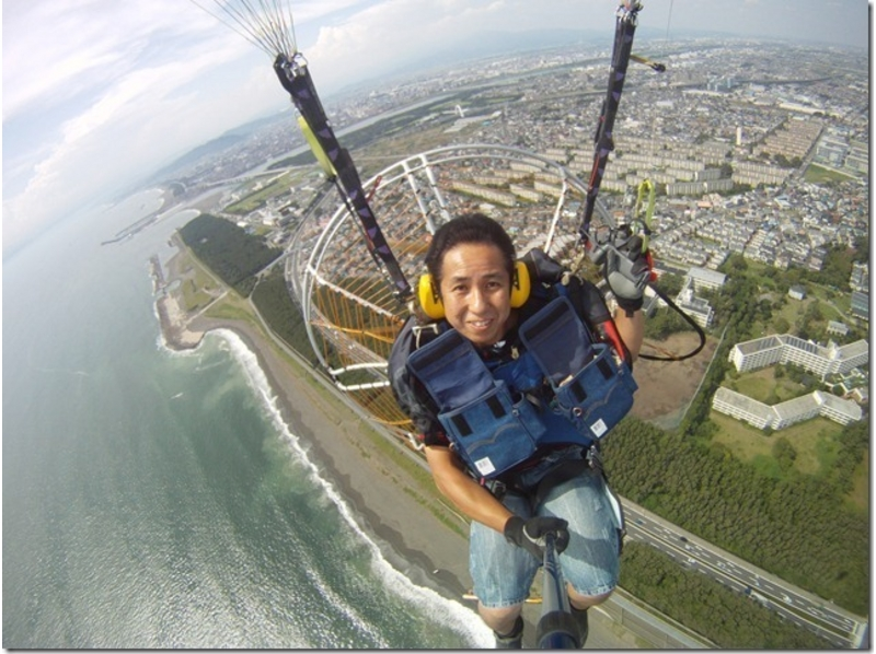 [Kanagawa Shonan] power paraglider tandem flight experience (motor paraglider) Saturday, Sunday and public holidays the best deals! ! Introduction image of]