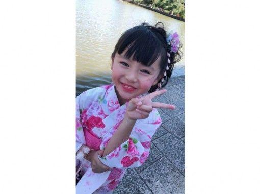 """[奈良,奈良公園]讓我們留在旅程的紀念孩子的可愛和服的回憶! """"兒童計劃""""是全套的,因此您可以空手而歸!の紹介画像"""