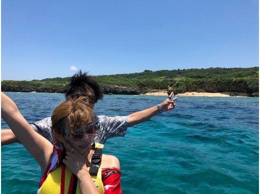 可以使用地區通用的優惠券♪[沖縄/古宇利島]每組有安全的租船經驗!輕鬆的海上體驗♪經典水上摩托15分鐘計劃の紹介画像