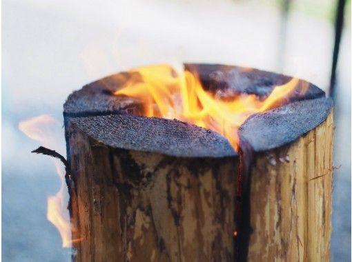 【越後湯沢】木こりの切ったスウェーデントーチ付き 手ぶらでBBQ