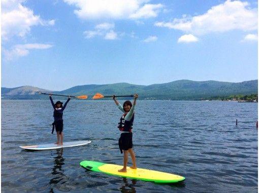 【山梨・山中湖】家族やグループに大人気!富士山をバックにSUPクルージング♪