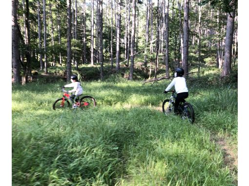 Completely chartered tour within 2 hours course Into the real forest !! Almost no climb! Mountain bike experienceの紹介画像