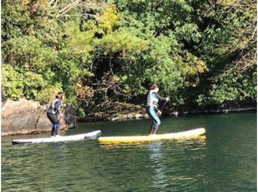 [Kagoshima ・ Ikeda Lake] Boat Cruising With power spot tour ★ SUP School!の紹介画像