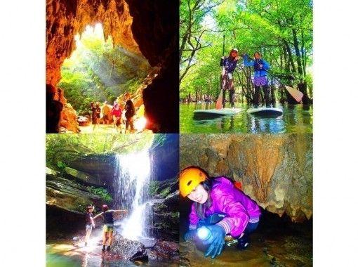 【石垣島・西表島】マングローブSUP ・カヌー滝巡り&ケイビング(鍾乳洞探険)【ツアー写真無料プレゼント】