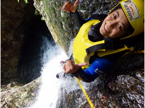 ◇ Free photo gift ♪ Canyoning tour! !! Fox course 20m waterfall!の紹介画像