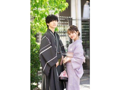 [Yokohama / Minato Mirai] Kimono set & hair set & dressing plan! Umbrellas are available for free rental on rainy days ♪の紹介画像