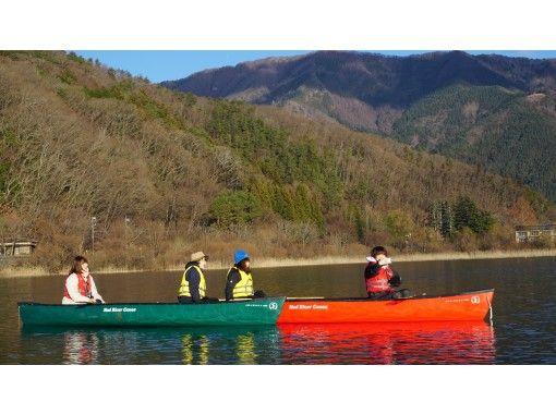 【山梨県・河口湖】早朝カヌー体験・90分コース・三密を避けて外遊び!カヌーで湖上散歩&思い出作りの旅