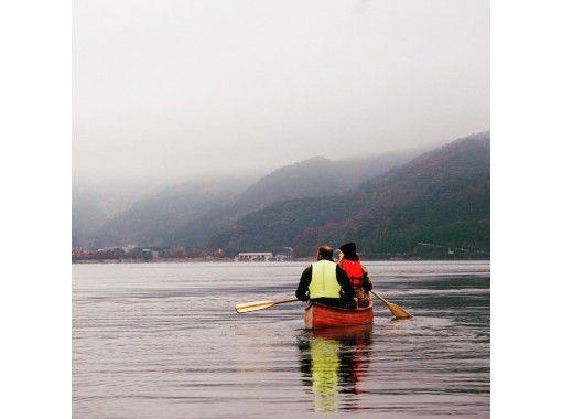【地域共通クーポン利用可能プラン】秋の行楽・河口湖早朝カヌー体験・90分コース・三密を避けて外遊び!カヌーで湖上散歩&思い出作りの旅