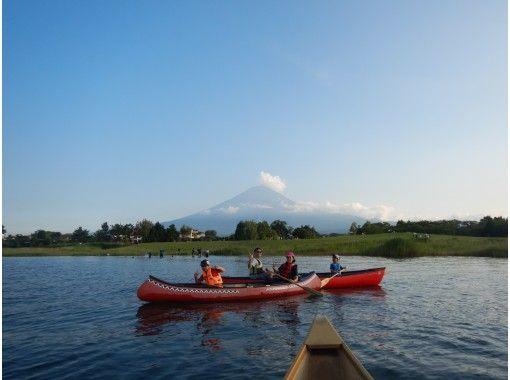 【山梨県・河口湖】夕暮れカヌー体験・90分コース・コロナでも安心・3密を避けて外遊び!カヌーで湖上散歩&思い出作りの旅